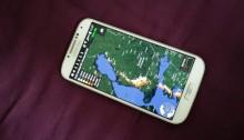 Blitzortung -aplikaatio Samsung S4 -puhelimessa.